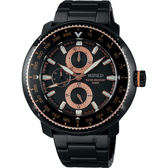 【聖誕限定款】WIRED SOLIDITY 復古軍用200米限定手錶-鍍黑/44mm VH67-KHC0K(AY8037X1)