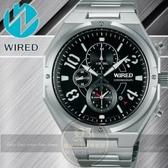 WIRED日本原創RIGID武士戰神計時腕錶-黑/38mm 7T92-X254D AF8R77X1公司貨/柯有倫廣告/聖誕節/禮物/情人節