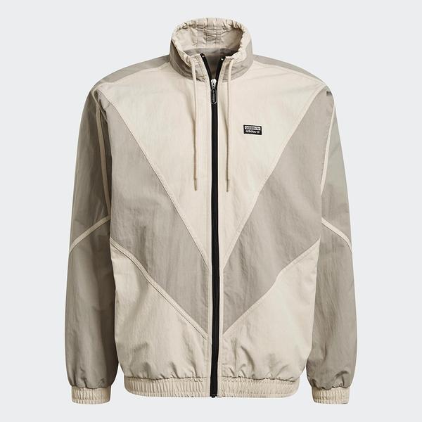 Adidas R.Y.V. V-LINE 男裝 外套 立領 可調式領口 口袋 V形裁切 米【運動世界】GN3341
