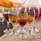 小號高腳杯紅酒杯套裝家用加厚6只裝無鉛玻璃杯歐式葡萄酒杯【全館免運】