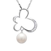 項鍊 925純銀珍珠吊墜-氣質百搭生日情人節禮物女飾品73dk526【時尚巴黎】