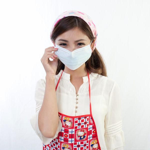 Qmishop 三層不織布/平面防塵/防臭/保護喉嚨口罩5入【QJ227】
