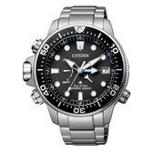 CITIZEN 光動能潛龍極致男腕錶-銀X黑