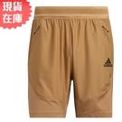 【現貨】Adidas HEAT.RDY 男裝 短褲 慢跑 訓練 吸濕排汗 透氣 拉鍊口袋 咖【運動世界】GM0341