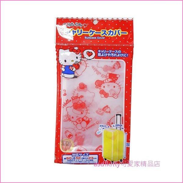 asdfkitty可愛家☆KITTY透明行李箱套-適用23*42*50公分的行李箱-日本正版商品