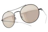 EMPORIO ARMANI 太陽眼鏡 EA2061 30035A ( 槍-淡白水銀灰鏡片) 雅痞圓框飛官款 # 金橘眼鏡