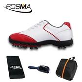 高爾夫球鞋 女款 英倫風 防水超纖皮 防水運動鞋 GSH080WRED