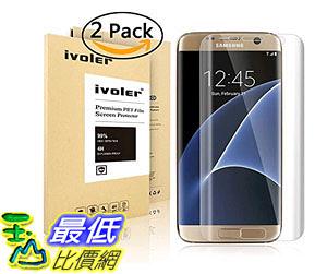 [105美國直購] 螢幕保護膜 Galaxy S7 Edge Screen Protector [Full Coverage] ,iVoler [2-Pack]  B01CTYAS7Y