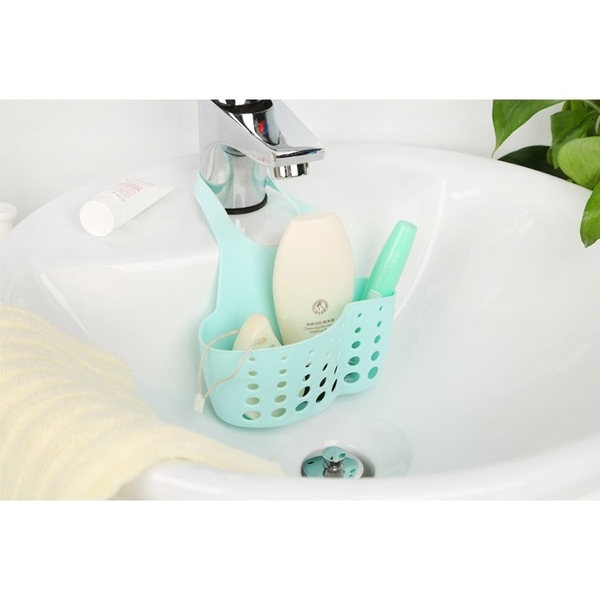 可調式 水槽菜瓜布瀝水掛籃/瀝水收納袋/浴室 掛袋 收納籃 置物籃 菜瓜布海綿掛架