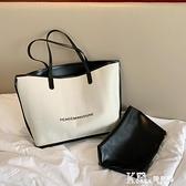 帆布包-上新包包女包2021夏季新款潮百搭大容量單肩包時尚帆布手提托特包 Korea時尚記