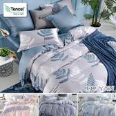 100%天絲-單人二件式床包枕套組- 多款任選 萊賽爾天絲