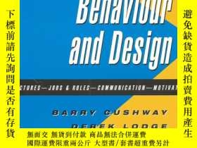 二手書博民逛書店Organizational罕見Behaviour and De