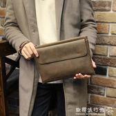 男士手包超大容量手拿包軟皮商務休閒男士手包信封包   歐韓流行館