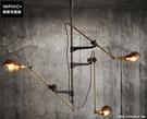 INPHIC- 美式鄉村歐式工業復古風3頭吸頂燈_S197C