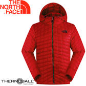 【The North Face 男 ThermoBall暖魔球 保暖兜帽外套 紅】C938/暖魔球外套★滿額送