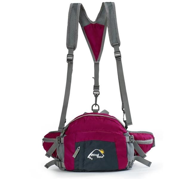 腰包 多功能大容量運動休閒戶外腰包男女款野營挎包騎行包雙肩包