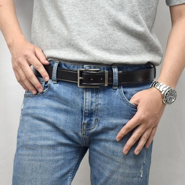加長皮帶 亮面真皮車線設計腰帶NK180
