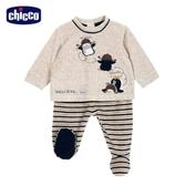 chicco-飛行企鵝系列-條紋連腳套裝-卡其