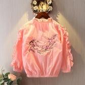 女童外套春秋2019新款洋氣夾克兒童女學生春季棒球服韓版時髦童裝