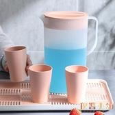 冷水壺家用大容量涼水壺日式冷水杯套裝耐高溫【倪醬小舖】