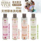 HERBAE VIVAE鄉村工坊 草本樂活系列洗毛精250ml·多種天然有機草本植物成分·犬用洗毛精*KING*