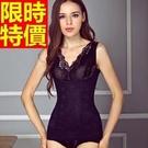 內衣塑身馬甲-V領蕾絲美體緊實調整型連身女塑身衣2色64ac11【時尚巴黎】