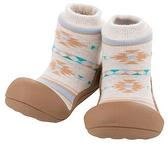 韓國 Attipas 快樂腳襪型學步鞋-咖啡北歐