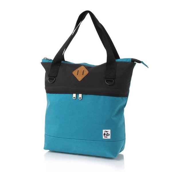 CHUMS Spruce Zip Top Tote 托特包 藍綠/魚子醬黑 CH602898T027【GO WILD】