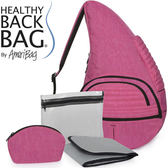 Healthy Back Bag 媽媽寶背包-大(44215-RO粉桃色) 媽咪專用斜背包/側背包/斜背包/防滑背包
