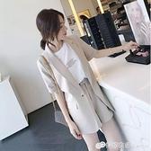春季新款韓版小西裝短褲套裝女時尚氣質女神范洋氣職業兩件套 檸檬衣舍