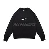 Nike 長袖T恤 NSW Swoosh SB Crew 黑 白 男款 大學T 運動休閒 【ACS】 DA0087-010