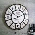 工業風 大尺寸 壁飾 時鐘 LOFT 復古流行 木質 立體 時鐘 歐式 靜音掛鐘 牆面裝飾 時鐘-米鹿家居