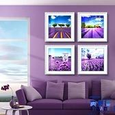【3幅帶框畫】現代薰衣草裝飾畫客廳臥室掛畫有框畫壁畫墻畫【英賽德3C數碼館】
