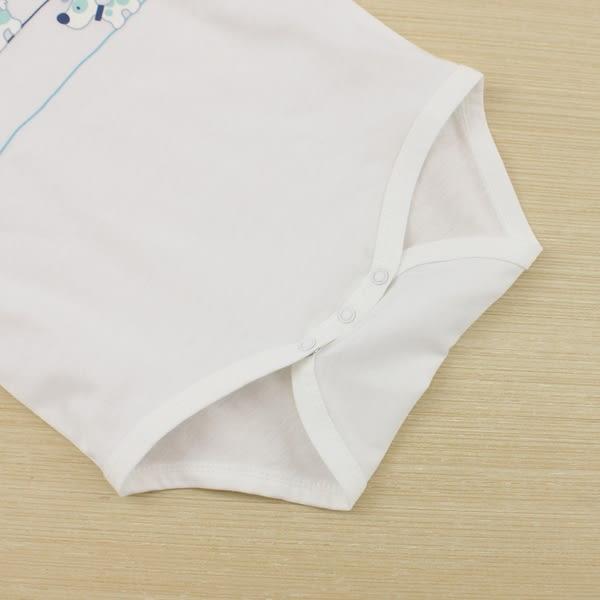 【愛的世界】純棉圓領小狗短袖包屁衣/6個月~2歲-台灣製- ★幼服推薦