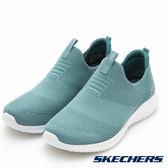 SKECHERS 女鞋 運動系列ULTRA FLEX 超軟健走鞋 - 蒂芬妮綠 12837SAGE
