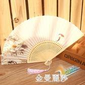 蘇扇真絲古風扇子折扇女式中國風折扇舞蹈扇日式櫻花小扇 金曼麗莎