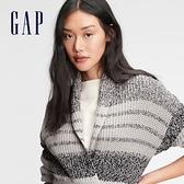 Gap女裝 時尚條紋無扣針織衫 647943-灰色條紋