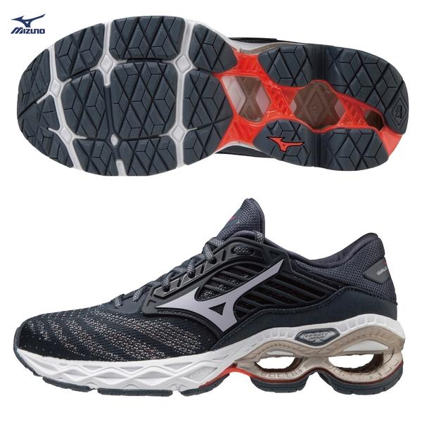 MIZUNO WAVE CREATION 22 女鞋 慢跑 INFINITY WAVE大底 深藍【運動世界】J1GD210157