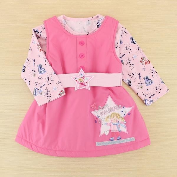 【愛的世界】溜冰小女孩背心裙包屁衣套裝禮盒/6個月~1歲-台灣製----禮盒推薦