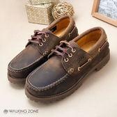 【WALKING ZONE】女--經典復刻雷根鞋(棕) 小牛皮手工_男女款尺寸皆有