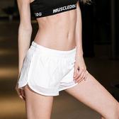 假兩件運動網紗短褲瑜伽健身服短褲 都市韓衣