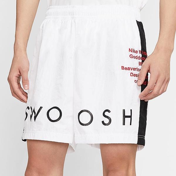 【現貨】Nike Sportswear Swoosh 男裝 短褲 慢跑 休閒 透氣 網眼內裡 口袋 白【運動世界】CJ4905-100