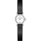 Longines浪琴 Mini 優雅系列真鑽女錶-珍珠貝x黑/16mm L23030872