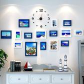 客廳創意個性掛鐘臥室牆上時鐘裝飾現代北歐餐廳家用靜音掛表相框WY 「名創家居生活館」