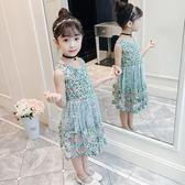 碎花洋裝 童裝夏款蕾絲紗公主裙 ZL142『miss洛羽』