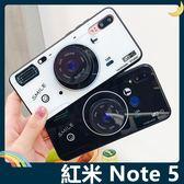Xiaomi 小米 紅米機 Note 5 黑白相機保護套 軟殼 玻璃鏡面 氣囊支架 指環扣 繞線器 手機套 手機殼