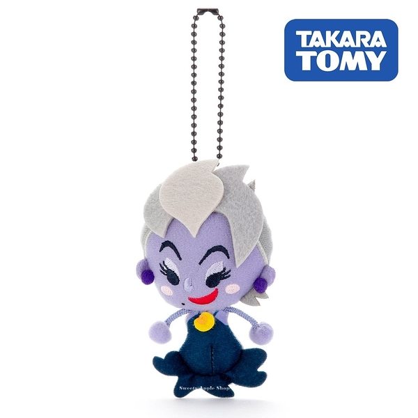 日本限定 迪士尼反派系列 烏蘇拉 TOY COMPANY 擦擦珠鍊吊飾 / 珠鍊玩偶