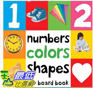 [107美國直購] 暢銷書 Numbers Colors Shapes (First 100) Board book