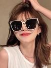 墨鏡 白框墨鏡2021年新款太陽鏡女士潮防紫外線眼鏡ins網紅款大臉顯瘦 風尚