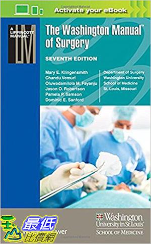 [106美國暢銷醫學書籍] The Washington Manual of Surgery (Lippincott Manual Series) Seventh Edition